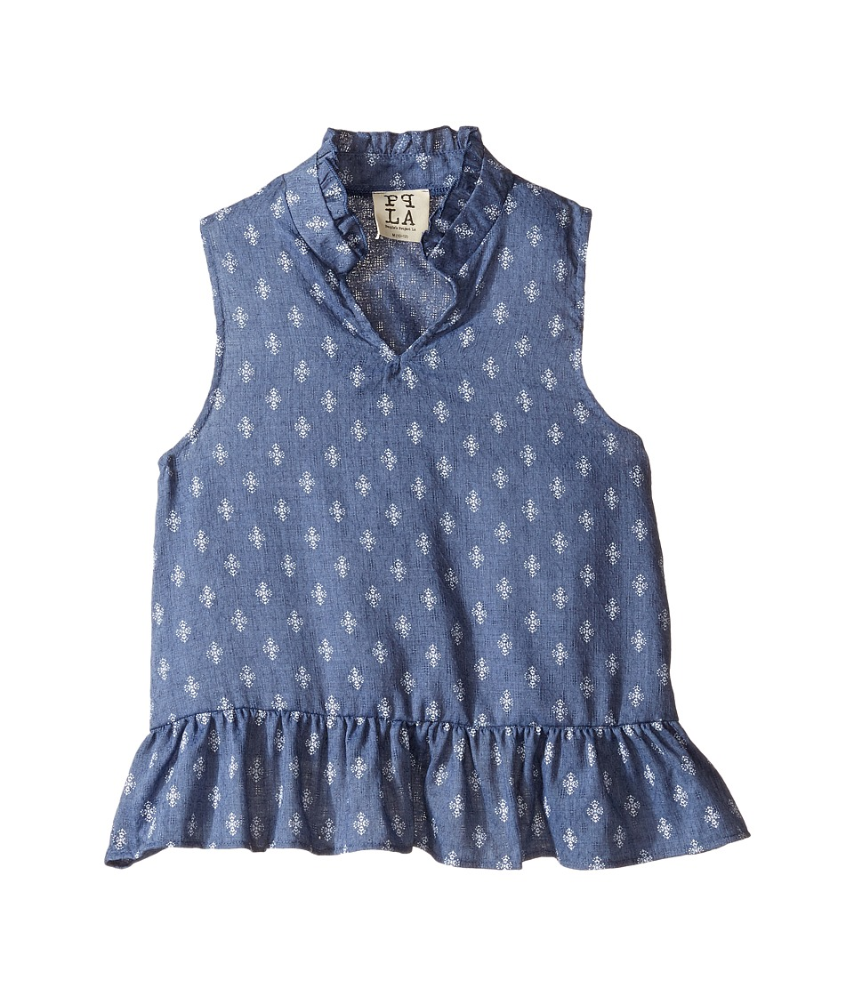 People's Project LA Kids - Addie Top (Big Kids) (Dark Blue) Girl's Clothing