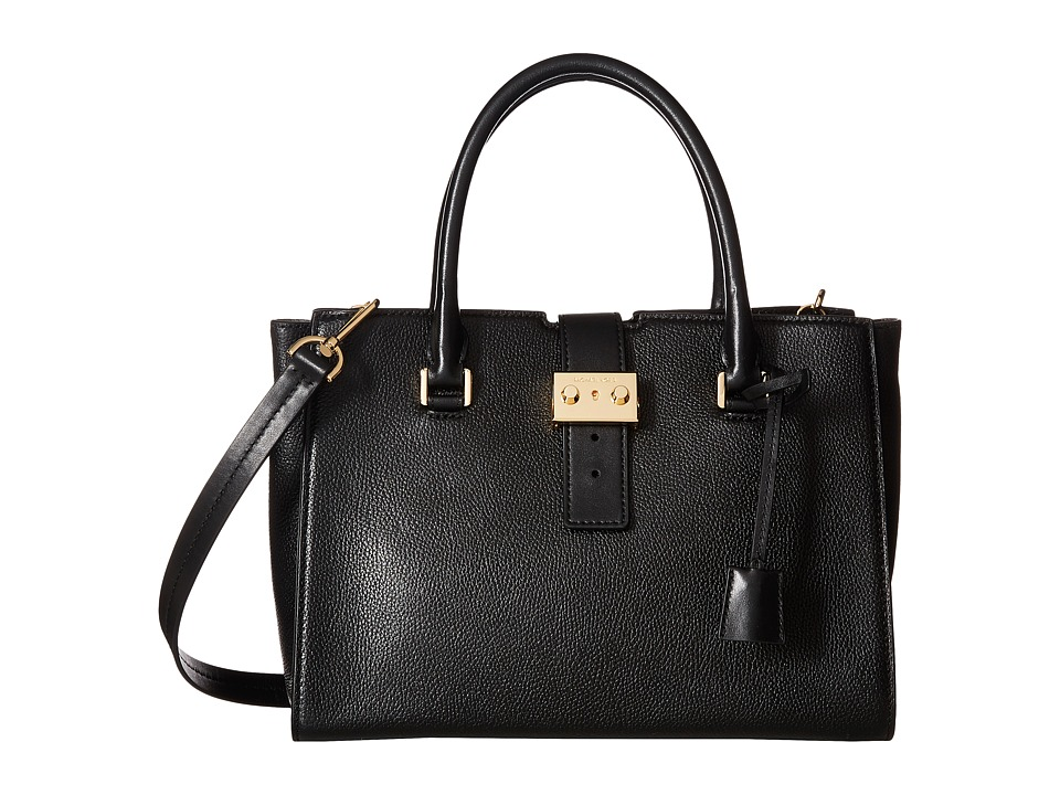 MICHAEL Michael Kors - Bond Medium Satchel (Black) Satchel Handbags
