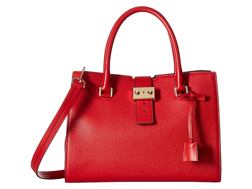 MICHAEL Michael Kors - Bond Medium Satchel (Bright Red) Satchel Handbags