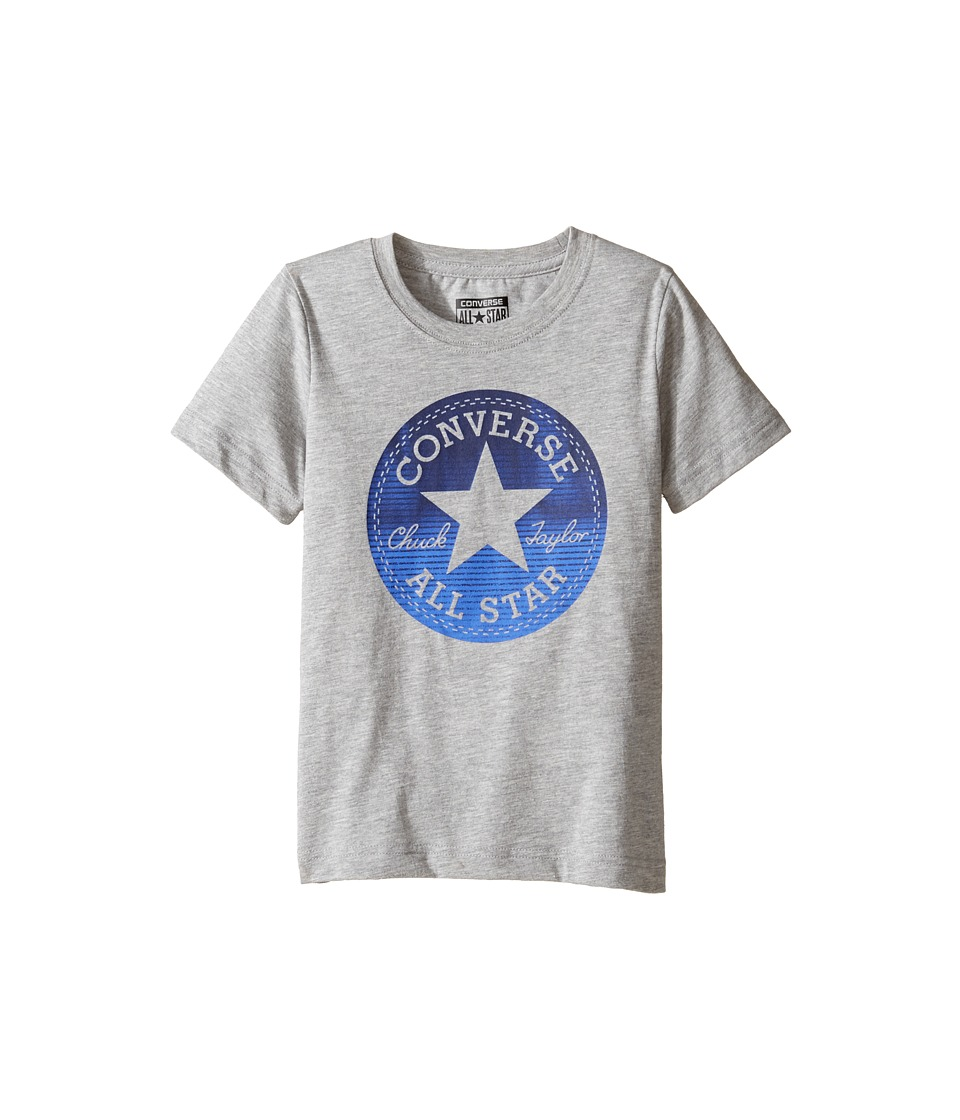 Converse Kids - Chuck Fill Tee (Toddler/Little Kids) (Vintage Grey Heather) Boy's T Shirt