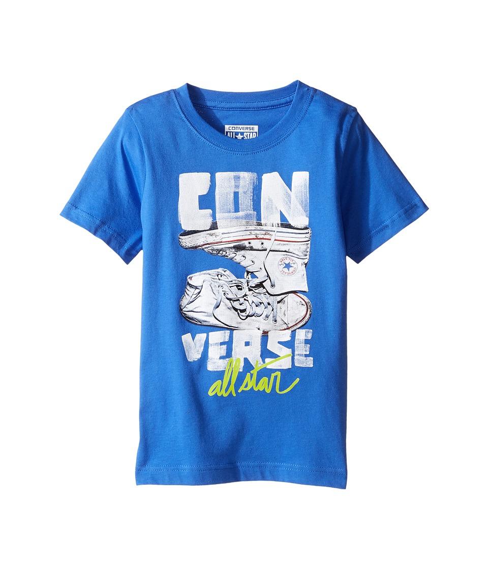 Converse Kids - Stack Chucks Tee (Toddler/Little Kids) (Oxygen Blue) Boy's T Shirt