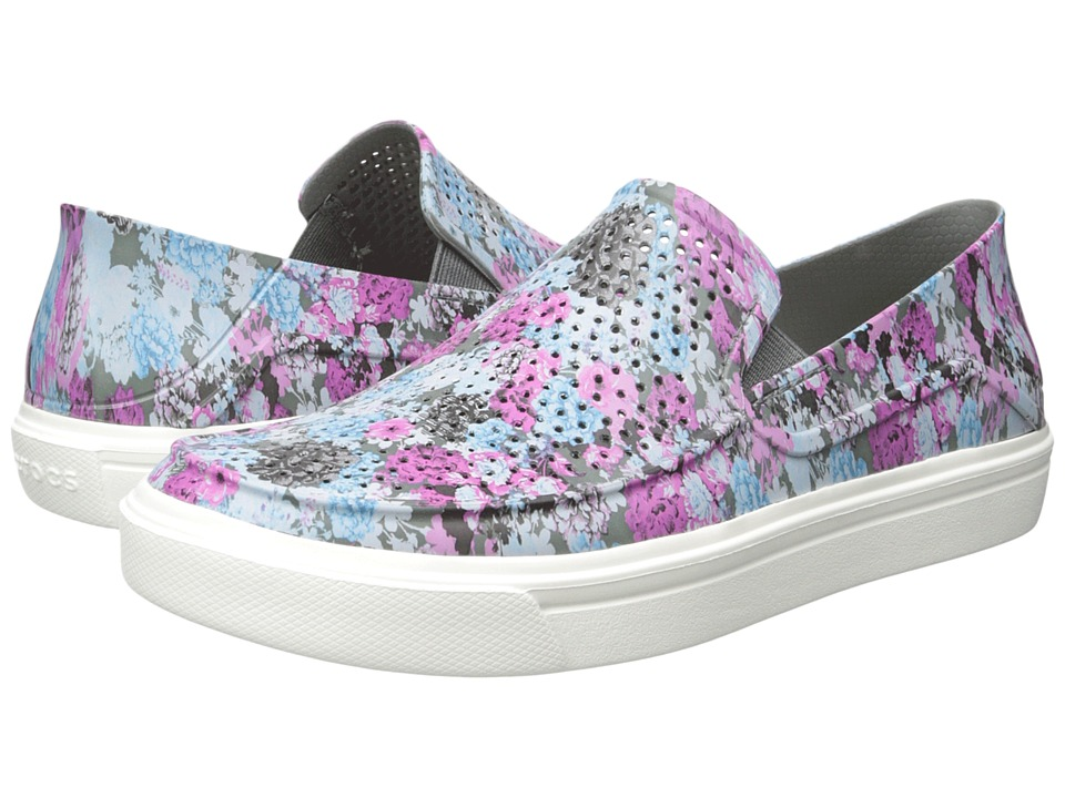 Crocs CitiLane Roka Graphic Slip-On (Floral/Cashmere Rose) Women
