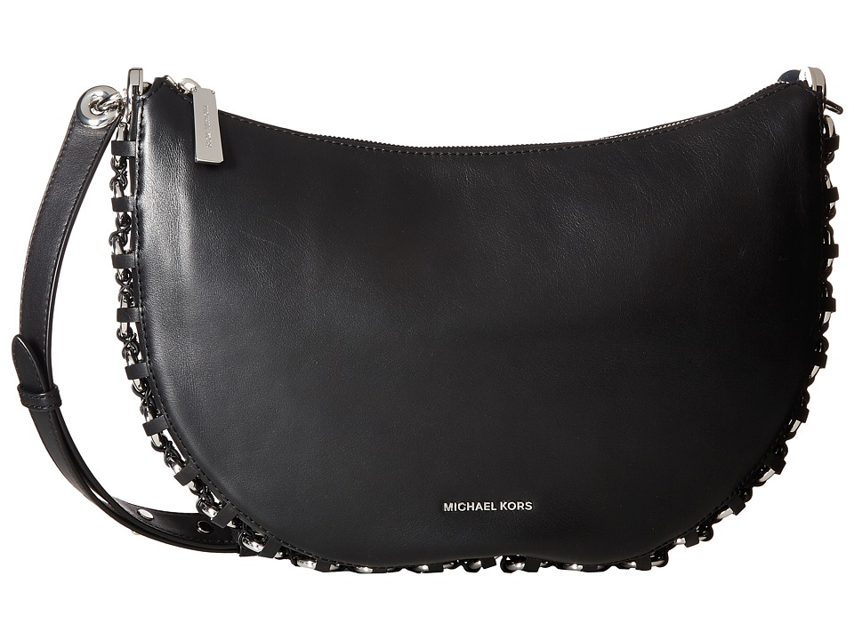 MICHAEL Michael Kors - Piper Medium Messenger (Black) Messenger Bags