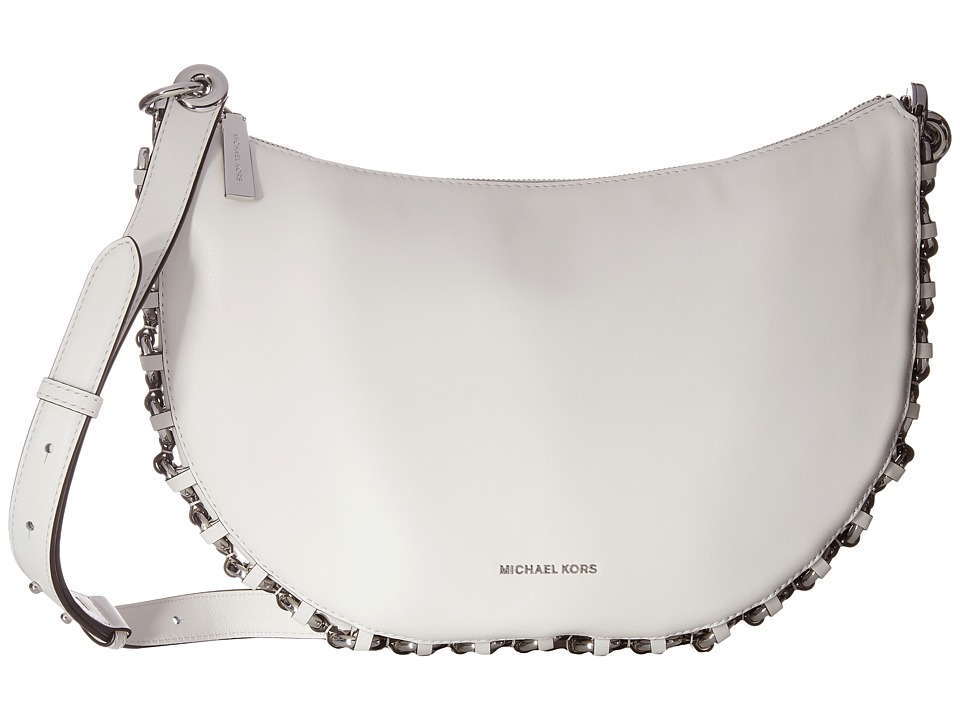 MICHAEL Michael Kors - Piper Medium Messenger (Optic White) Messenger Bags