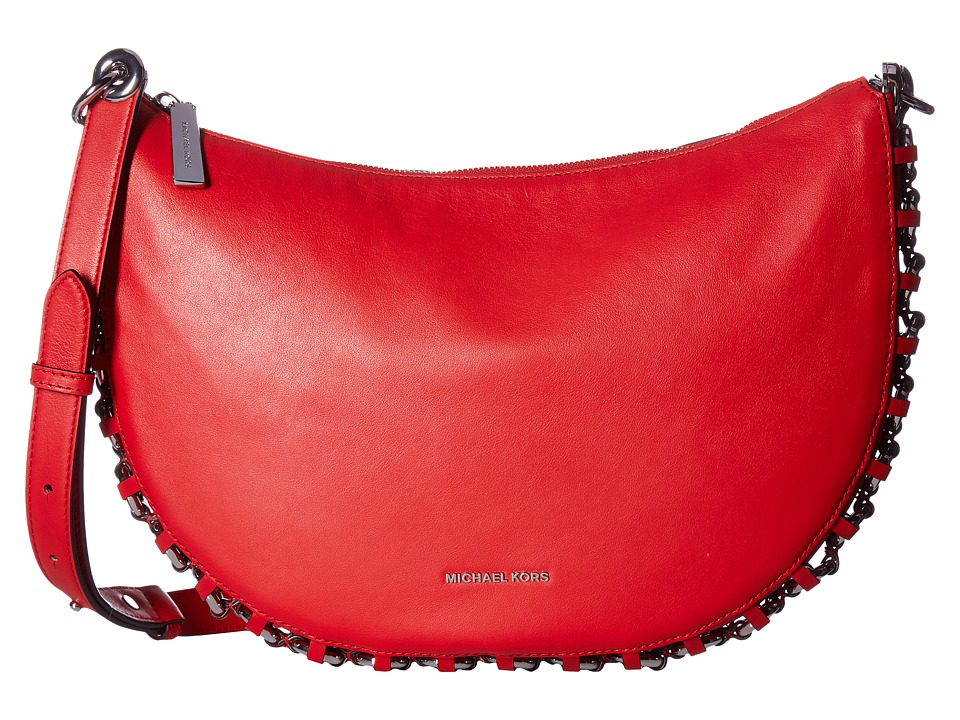 MICHAEL Michael Kors - Piper Medium Messenger (Bright Red) Messenger Bags