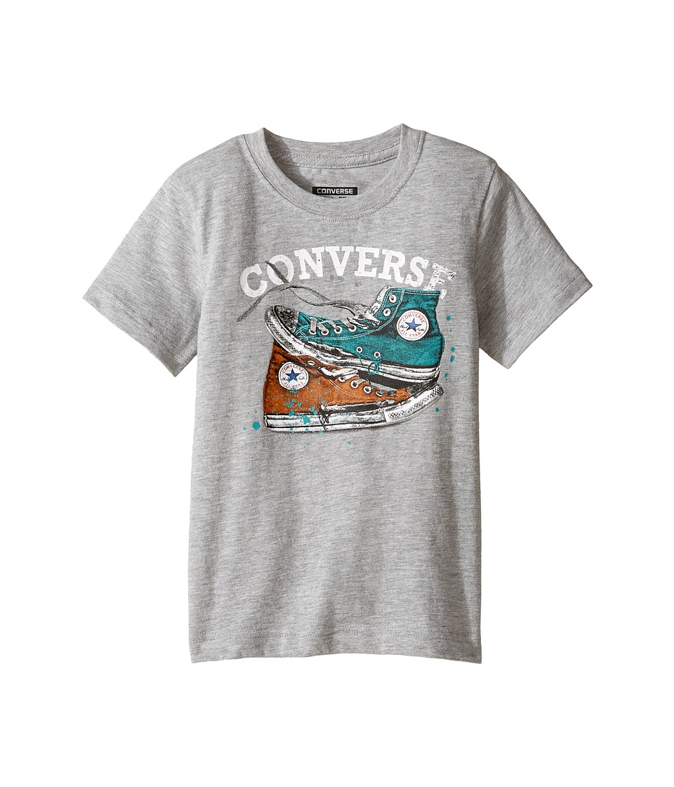 Converse Kids - Mix Match Chucks Tee (Toddler/Little Kids) (Vintage Grey Heather) Boy's T Shirt