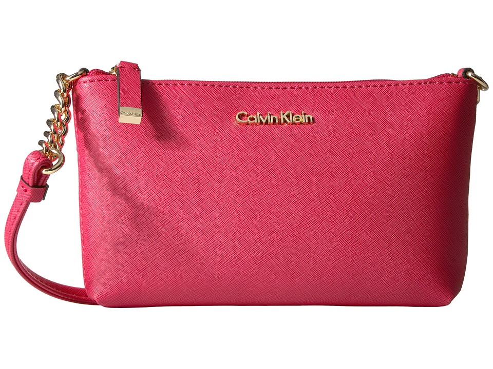 Calvin Klein - Saffiano Crossbody (Watermelon) Cross Body Handbags