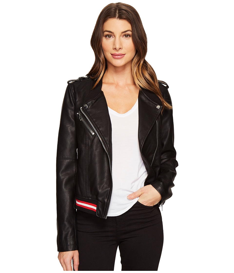 Blank NYC - Vegan Leather Elastic Band Moto Jacket in Frisky Business (Frisky Business) Women's Coat
