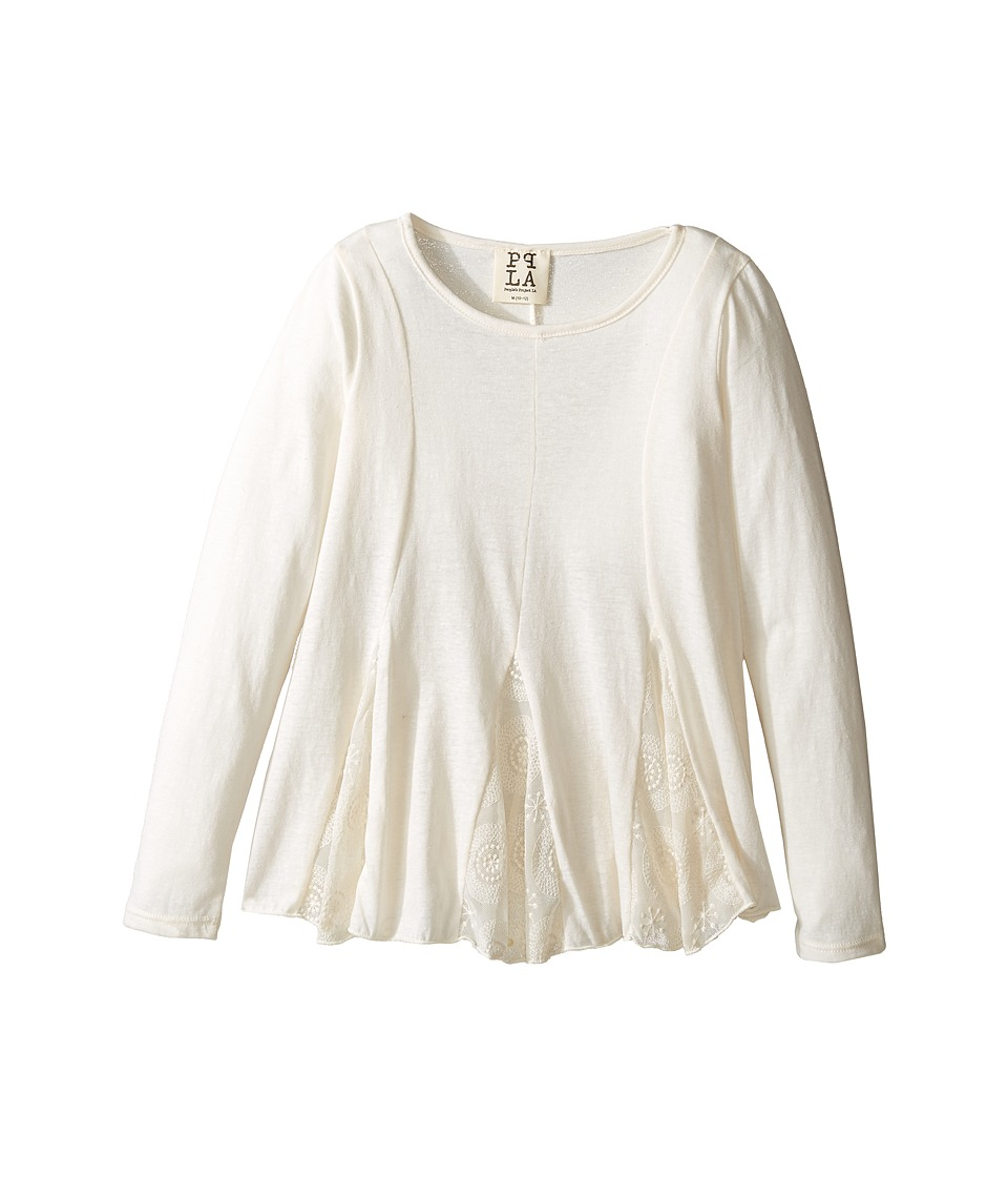 People's Project LA Kids - Beth 3/4 Top (Big Kids) (Ivory) Girl's Clothing