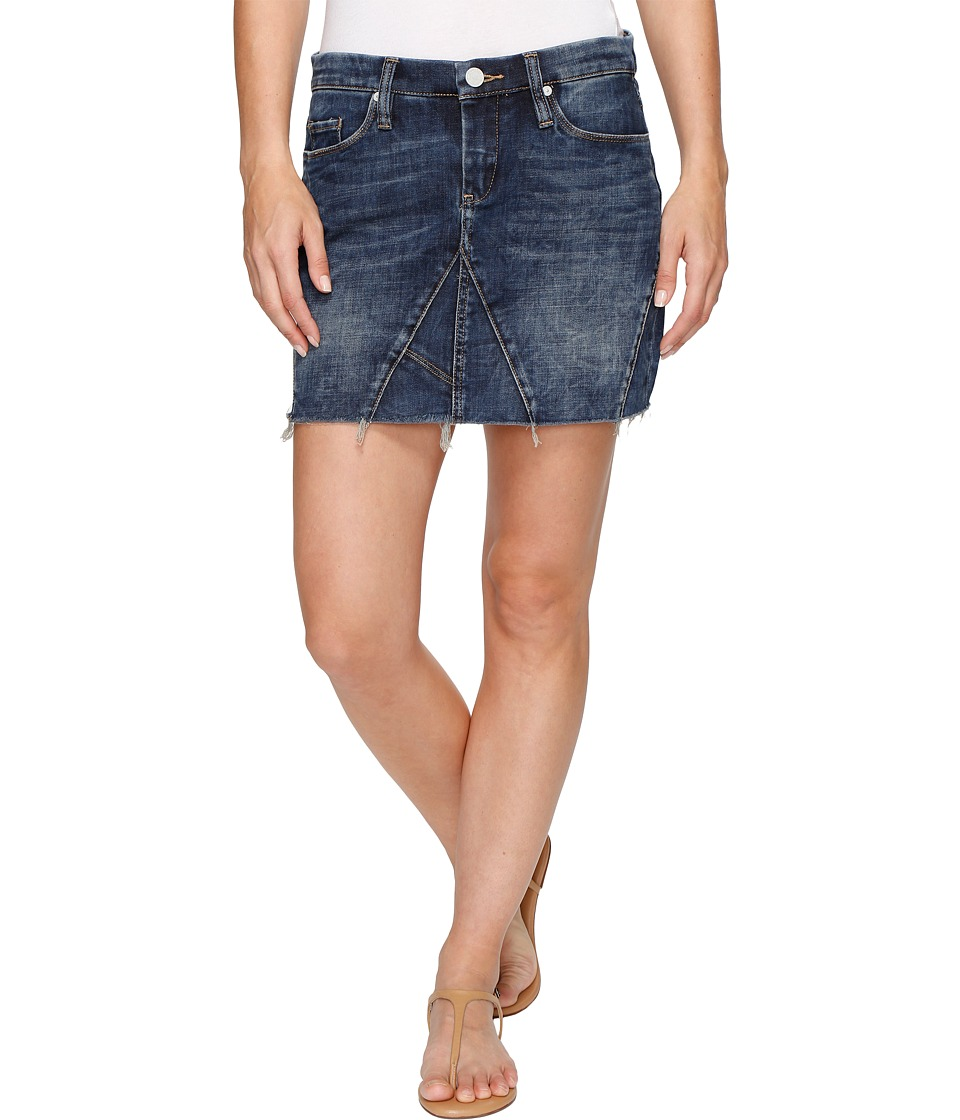 Blank NYC - Denim Mini Skirt Frayed Bottom in Side Hustle (Side Hustle) Women's Skirt