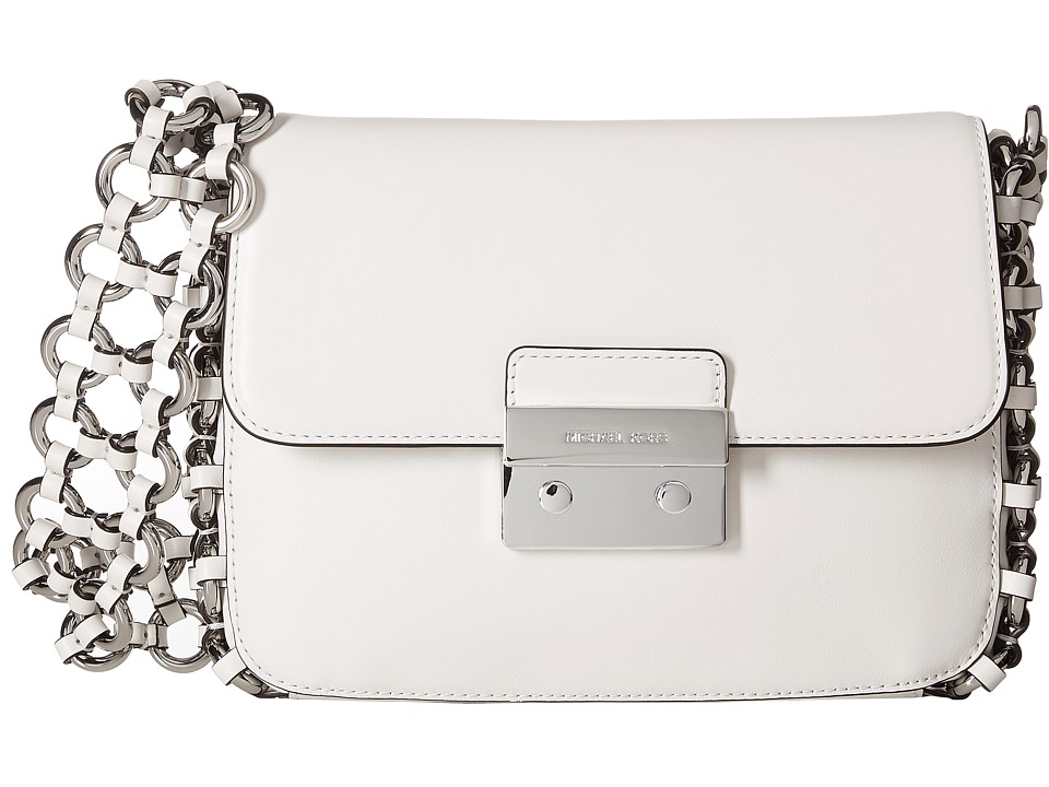 MICHAEL Michael Kors - Piper Large Shoulder Flap (Optic White) Shoulder Handbags