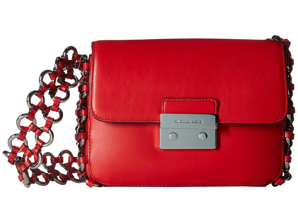 MICHAEL Michael Kors - Piper Large Shoulder Flap (Bright Red) Shoulder Handbags