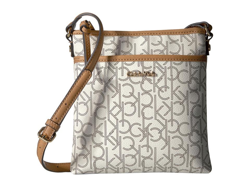 Calvin Klein - Monogram Crossbody (Almond/Khaki/Cashew) Cross Body Handbags
