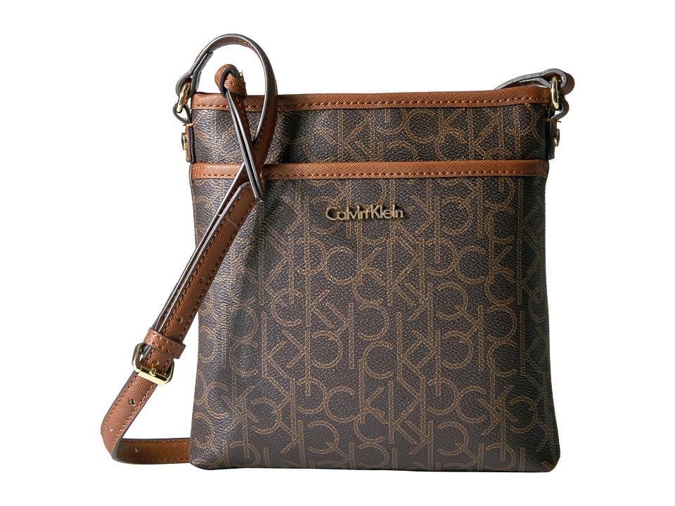 Calvin Klein - Monogram Crossbody (Brown/Khaki/Luggage) Cross Body Handbags
