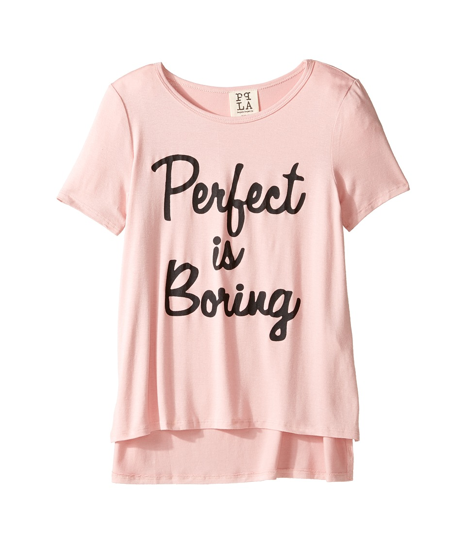 People's Project LA Kids - Perfect is Boring Tee (Big Kids) (Dusty Coral) Girl's T Shirt