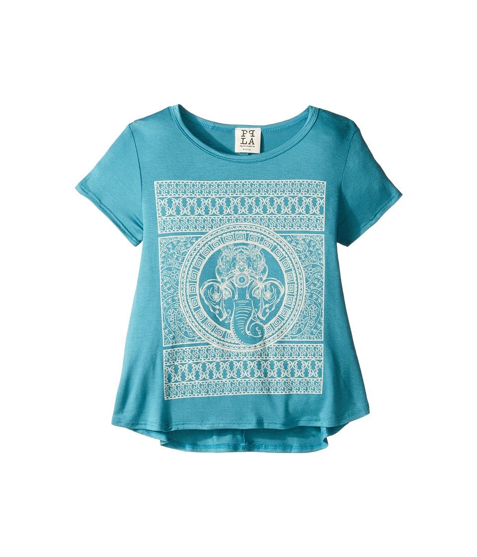 People's Project LA Kids - Ele Mosaic Tee (Big Kids) (Teal) Girl's T Shirt