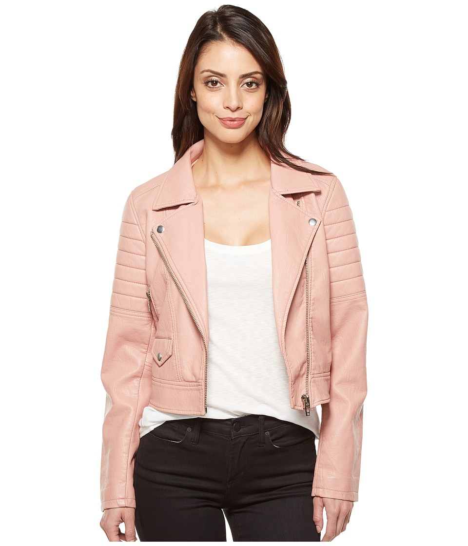 Blank NYC - Vegan Leather Moto Jacket in Pretty In Pink (Pretty In Pink) Women's Coat