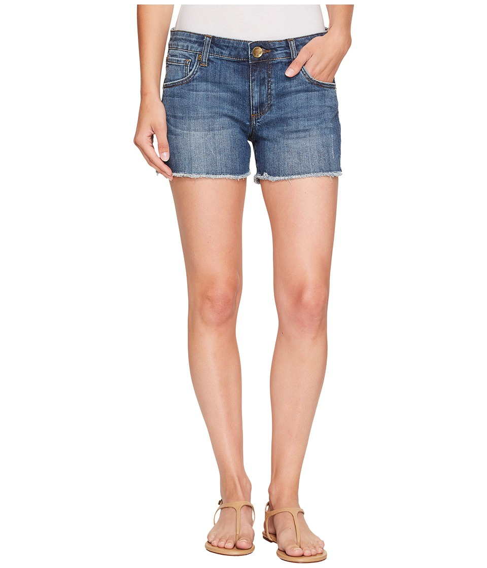 KUT from the Kloth - Petite Gidget Fray Shorts in Consolidated w/ Medium Base Wash (Consolidated w/ Medium Base Wash) Women's Shorts
