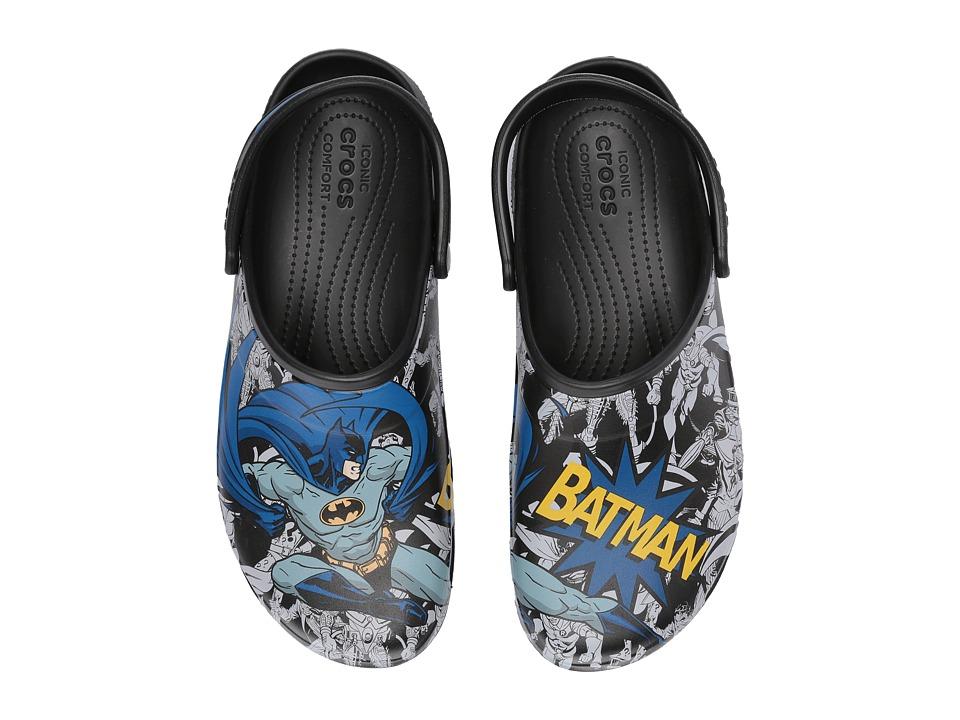 Crocs - Classic Batman Clog (Black) Clog/Mule Shoes