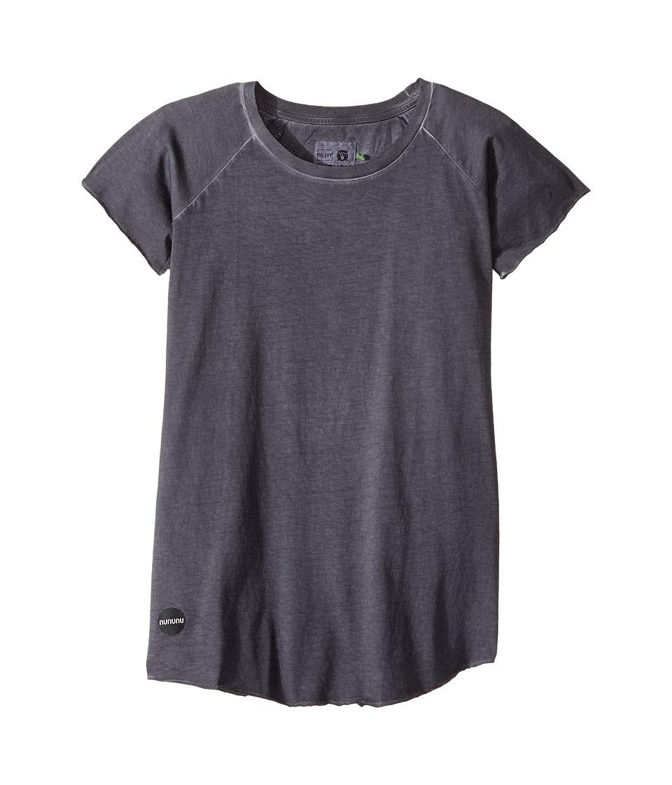 Nununu - Dyed Raglan T-Shirt (Little Kids/Big Kids) (Dyed Black) Kid's T Shirt