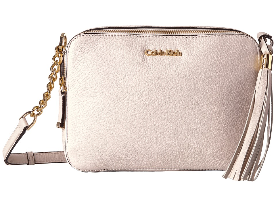 Calvin Klein - Pebble Crossbody (White) Cross Body Handbags