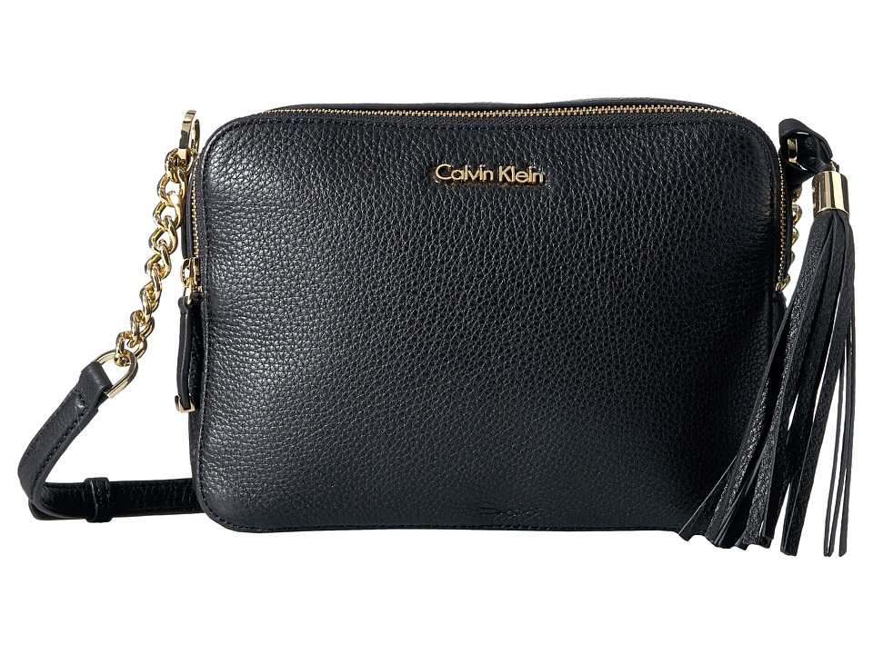 Calvin Klein - Pebble Crossbody (Black) Cross Body Handbags