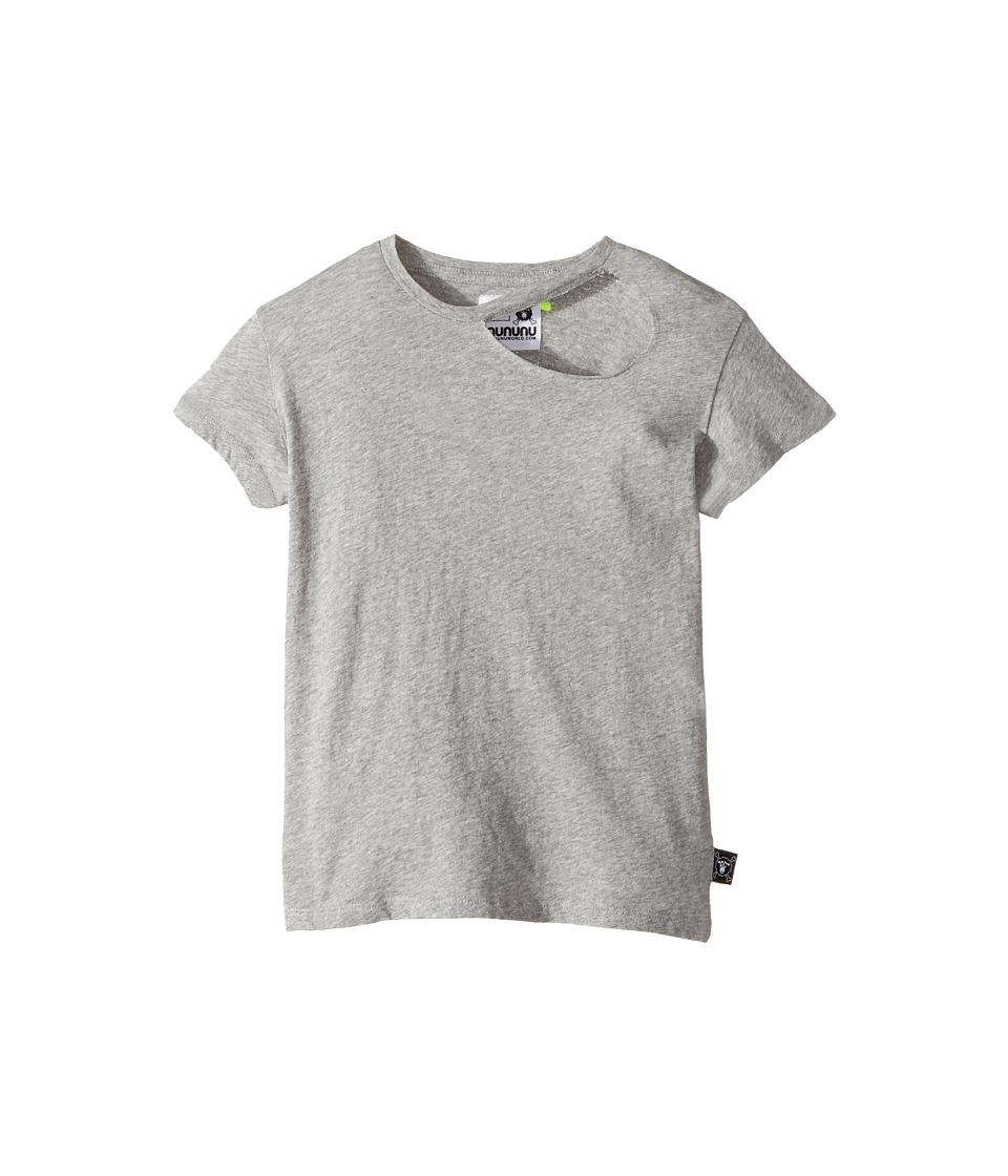 Nununu - Torn T-Shirt (Little Kids/Big Kids) (Heather Grey) Kid's T Shirt