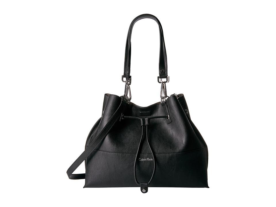 Calvin Klein - Pebble Tote (Black/Grey) Tote Handbags