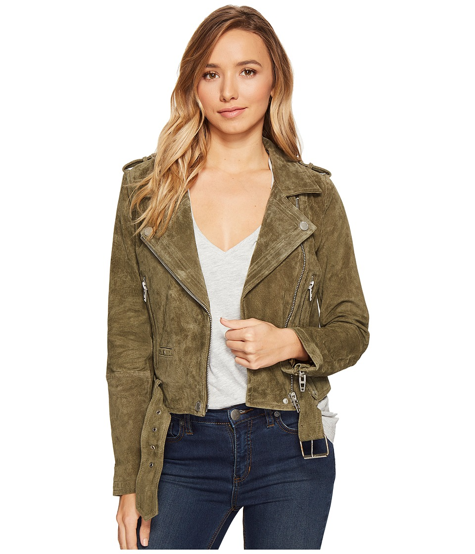 Blank NYC - Suede Moto Jacket in Burnt Sage (Burnt Sage) Women's Coat
