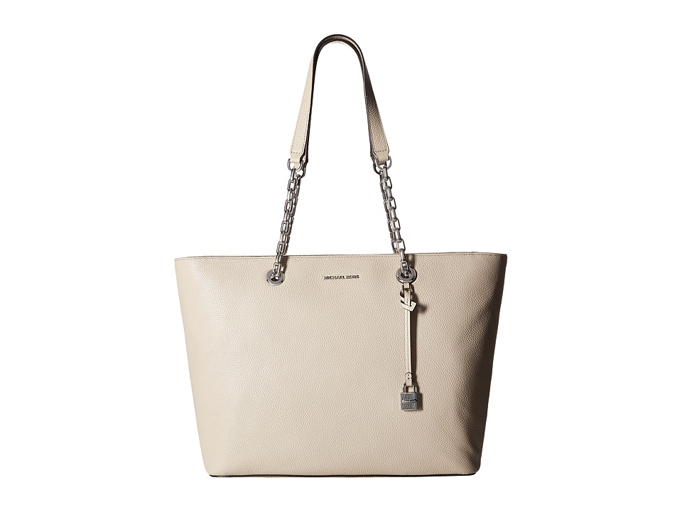 MICHAEL Michael Kors - Mercer Chain Medium Top Zip Mf Tote (Cement) Tote Handbags