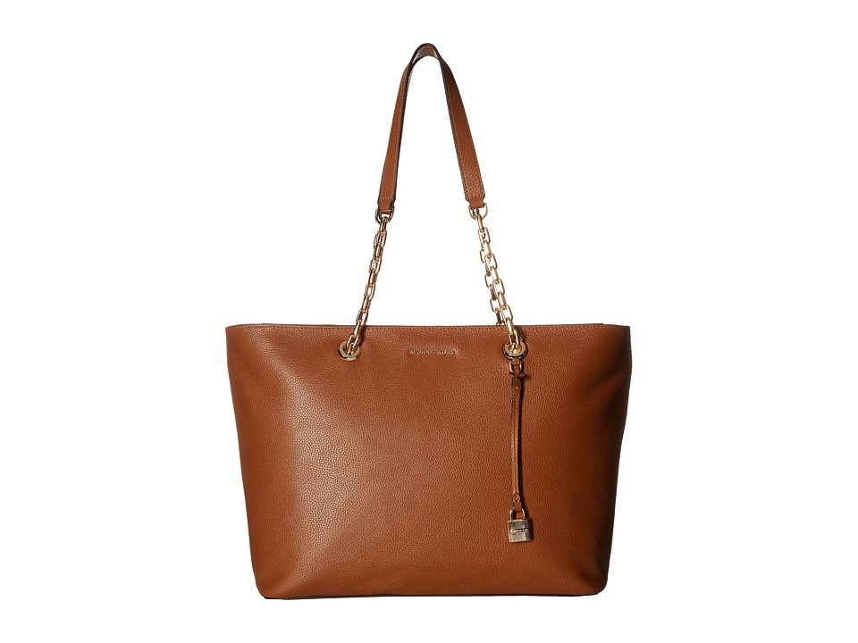 MICHAEL Michael Kors - Mercer Chain Medium Top Zip Mf Tote (Luggage) Tote Handbags