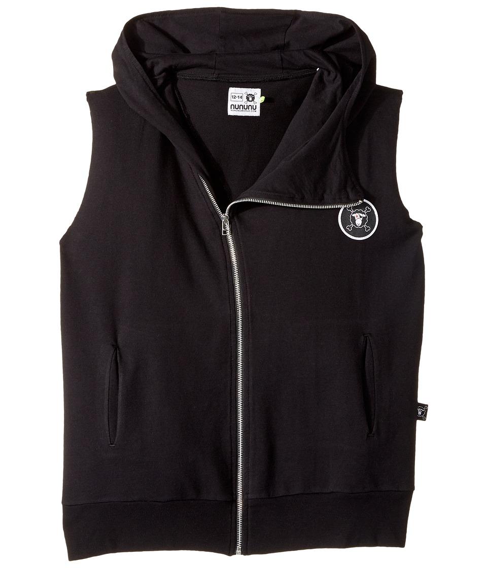 Nununu - Hooded Vest (Little Kids/Big Kids) (Black) Kid's Vest