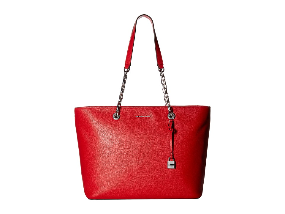 MICHAEL Michael Kors - Mercer Chain Medium Top Zip Mf Tote (Bright Red) Tote Handbags