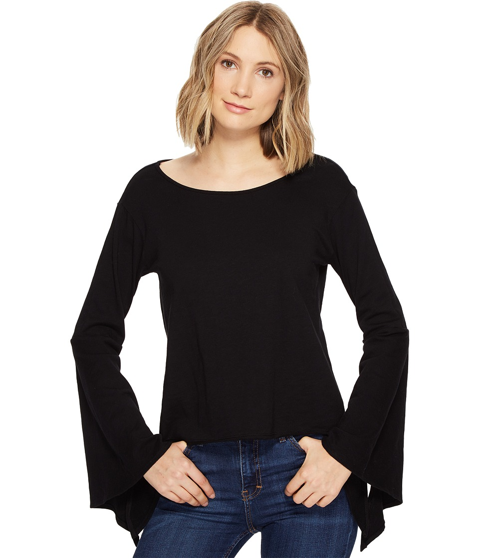 Blank NYC - Belle Sleeve Shirt in Shadow (Shadow) Women's Clothing
