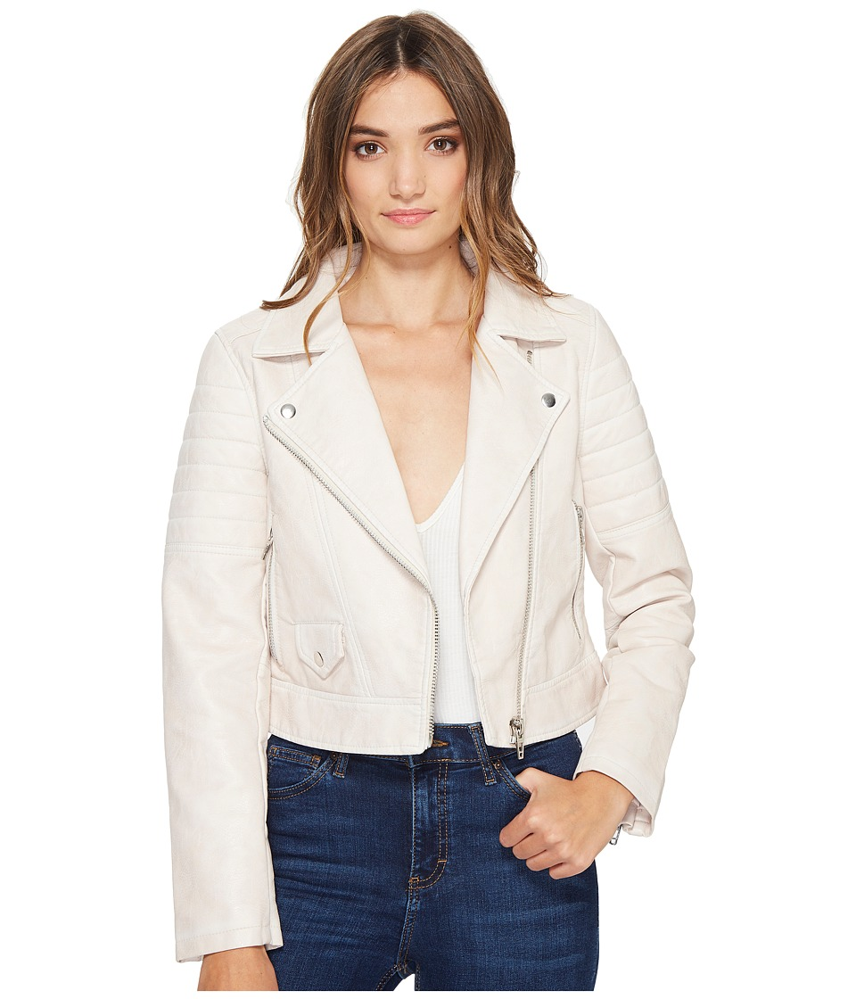Blank NYC - Vegan Leather Moto Jacket in Gum Drop (Gum Drop) Women's Coat