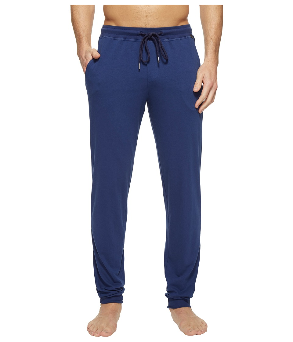Hanro - Harvey Long Knit Pants/Jogger (Deep Cobalt) Men's Pajama