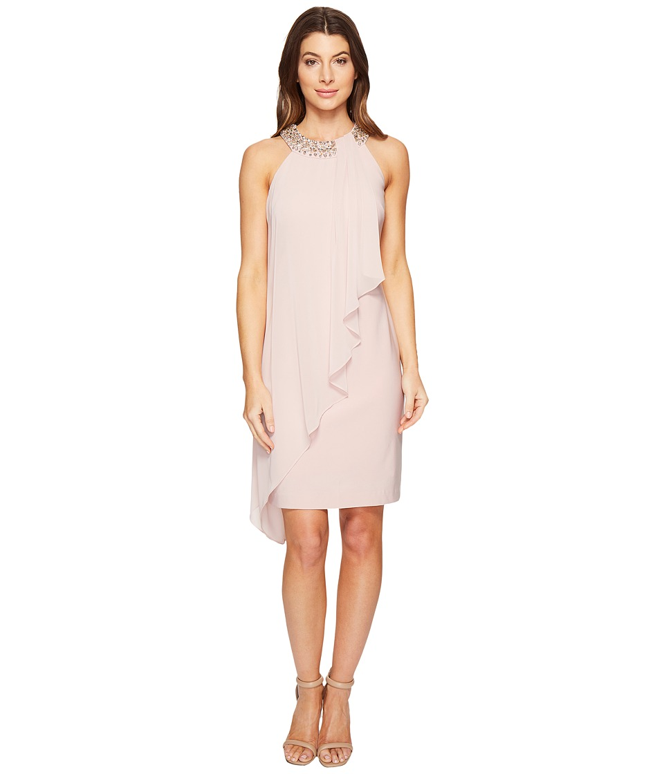 Vince Camuto - Sleeveless Dress with Beaded Neckband (Pink) Women's Dress