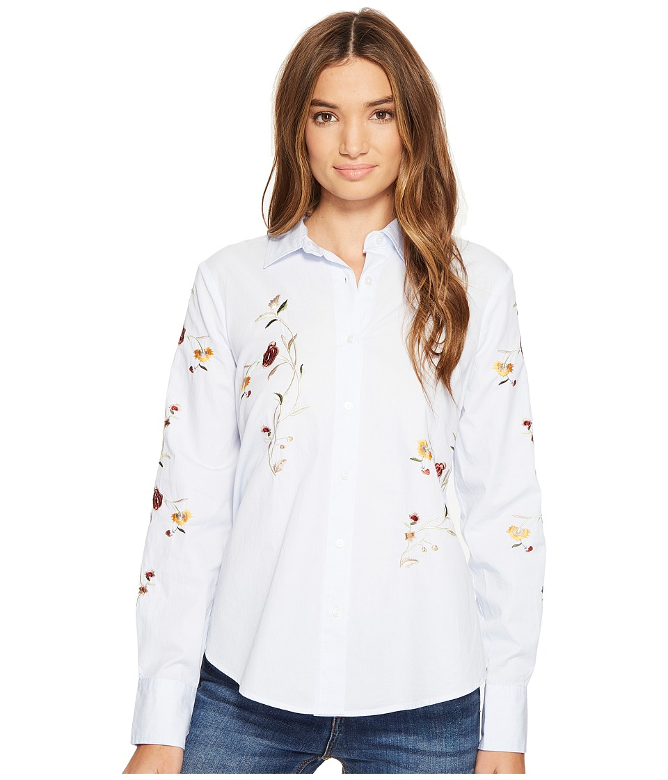 Blank NYC - Embroidered Shirt in In Bloom (In Bloom) Women's Clothing