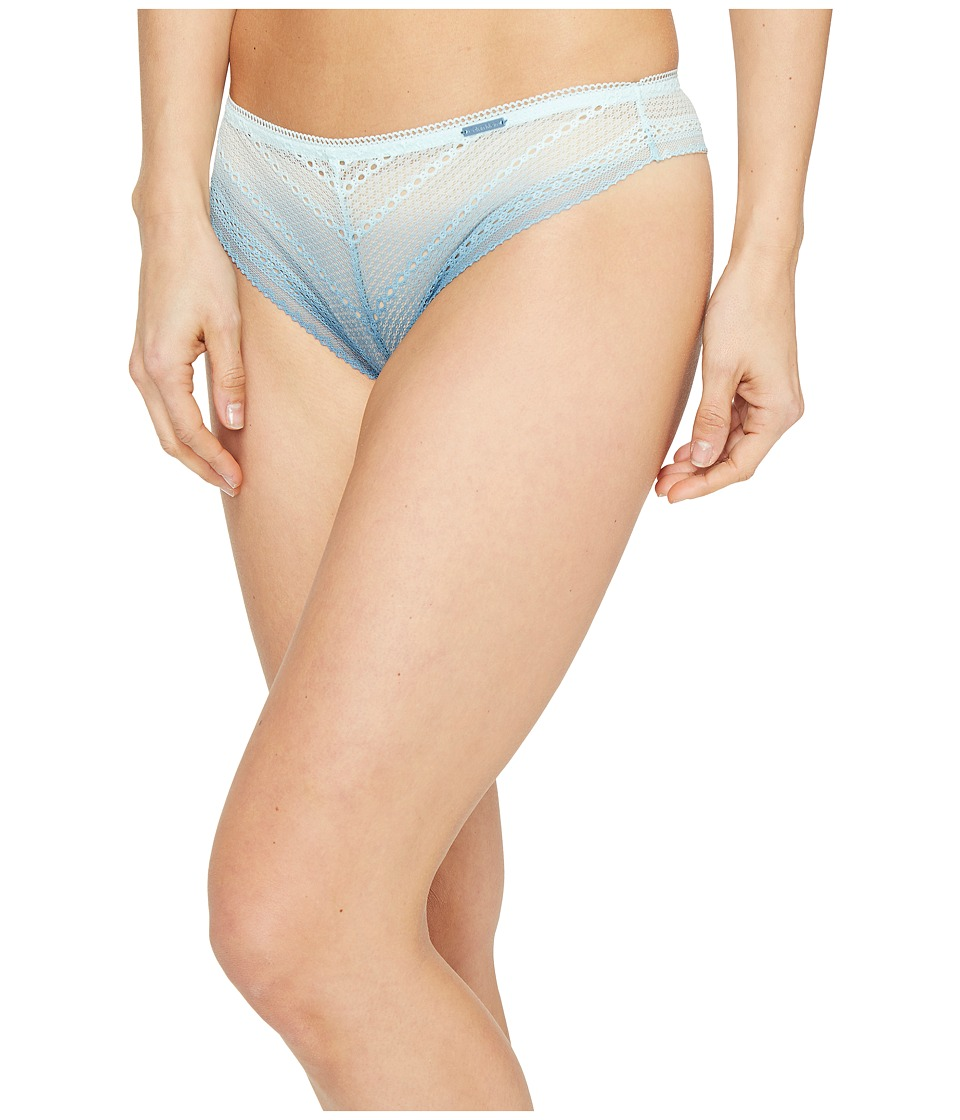 Calvin Klein Underwear - Ombre Thong (Salt Lake Blue Steel) Women's Underwear