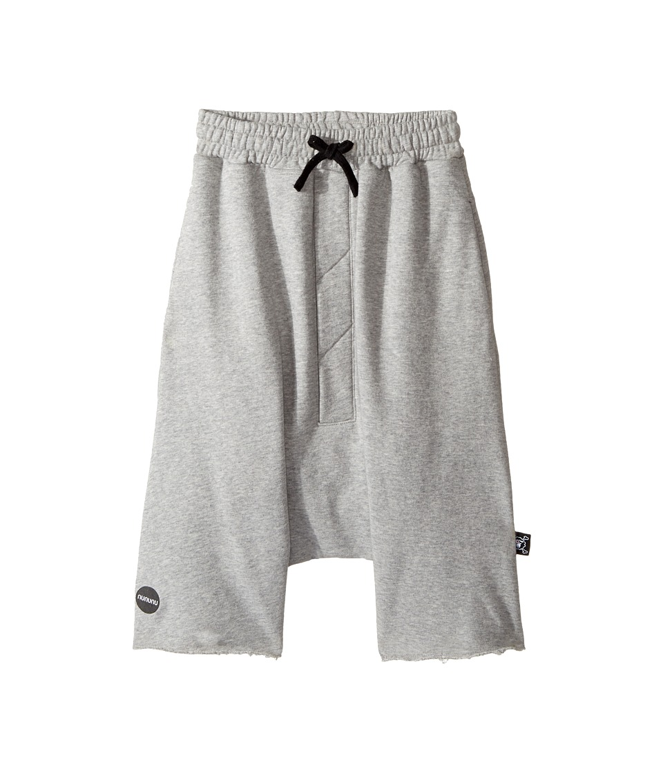Nununu - Oversized Shorts (Little Kids/Big Kids) (Heather Grey) Boy's Shorts