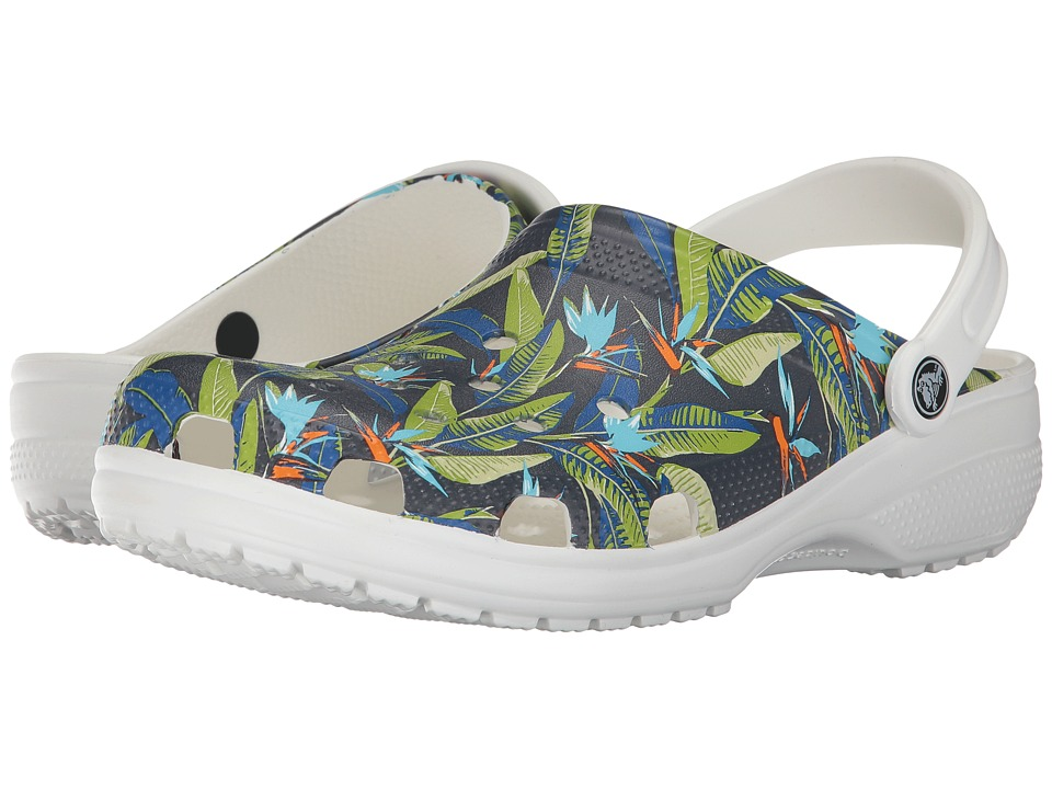 Crocs - Classic Tropical IV Clog (White) Clog/Mule Shoes