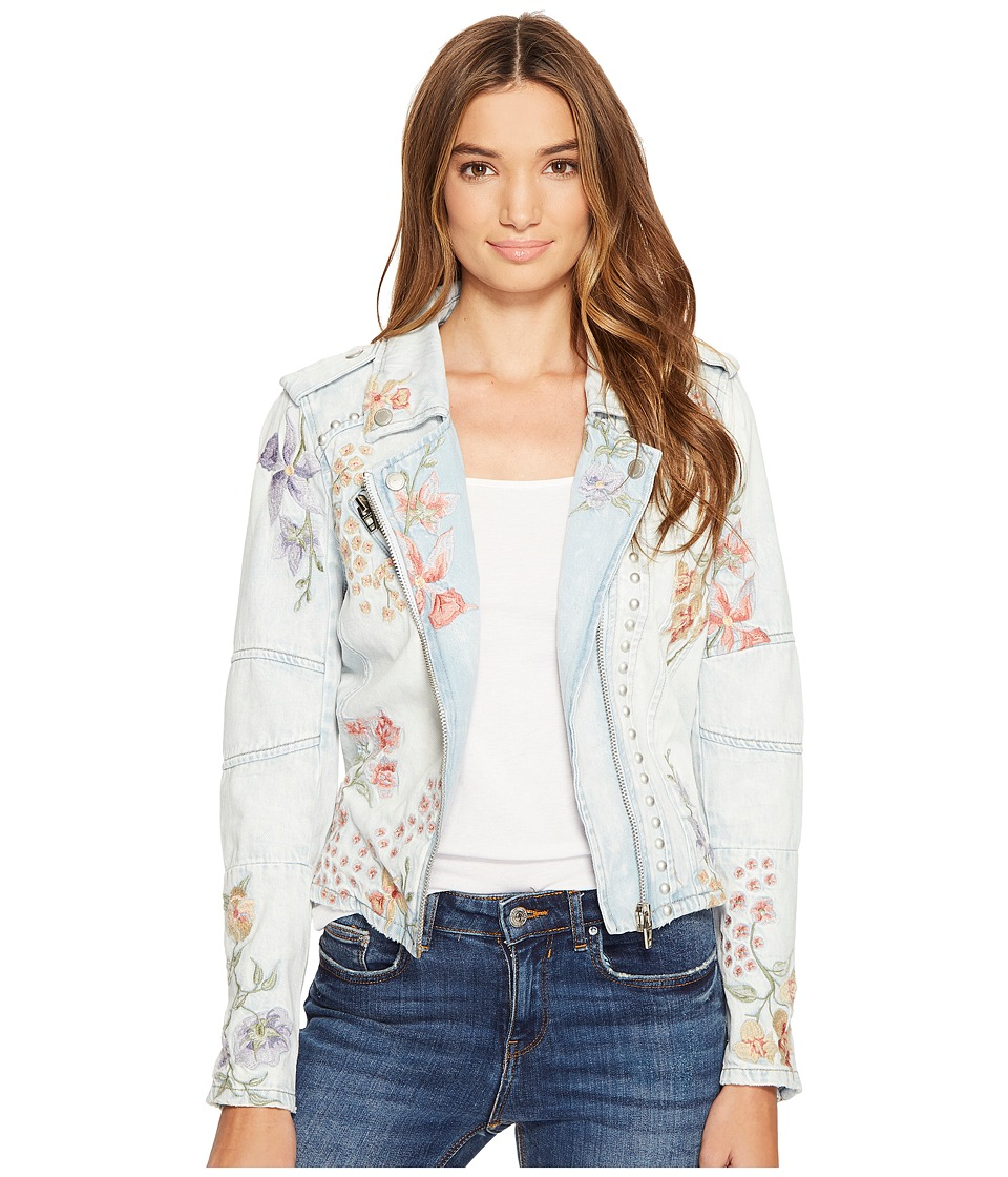 Blank NYC - Floral Embroidered Denim Studded Jacket in Sitting Pretty (Sitting Pretty) Women's Coat