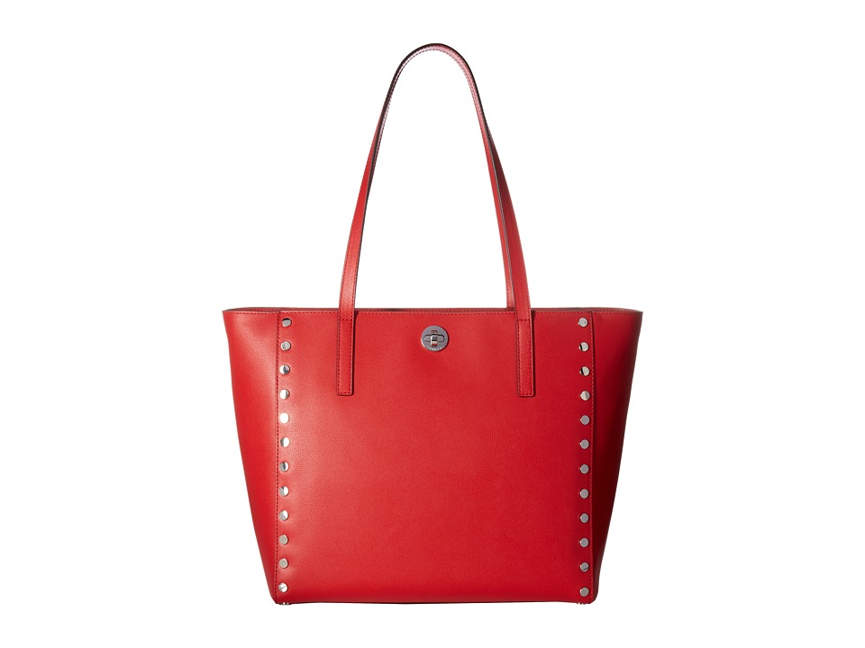 MICHAEL Michael Kors - Rivington Stud Large Tote (Bright Red) Tote Handbags