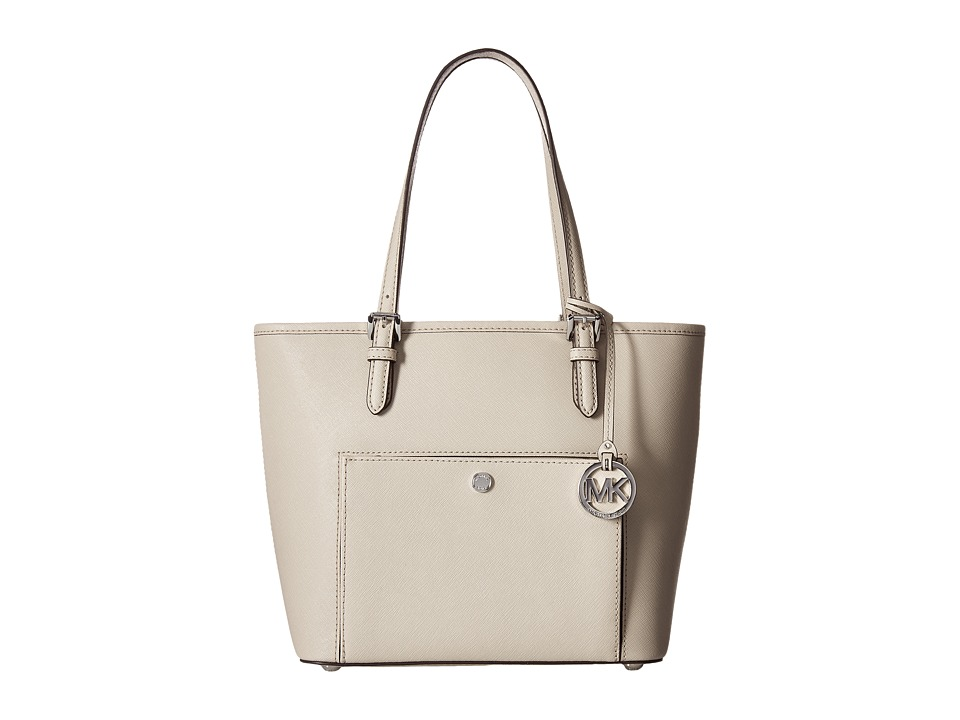 MICHAEL Michael Kors - Jet Set Item Medium Top Zip Snap Pocket Tote (Cement) Tote Handbags