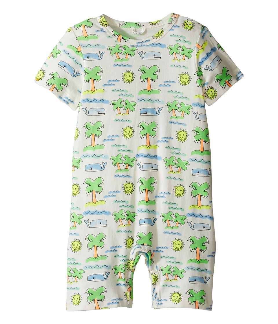 Stella McCartney Kids - Kit Fluro Beach Print All-In-One (Infant) (Off-White) Boy's Jumpsuit & Rompers One Piece