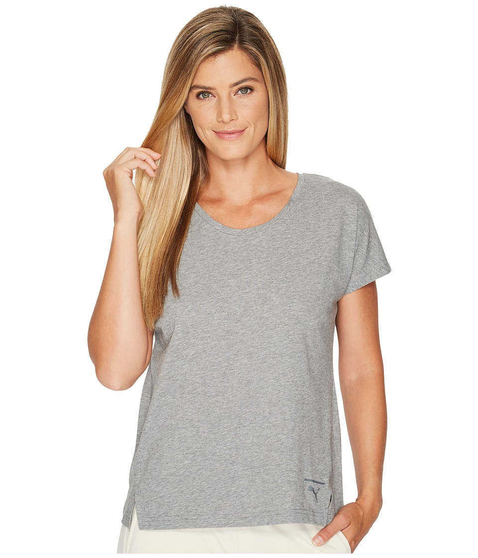PUMA Lux Fashion Tee (Medium Gray Heather) Women