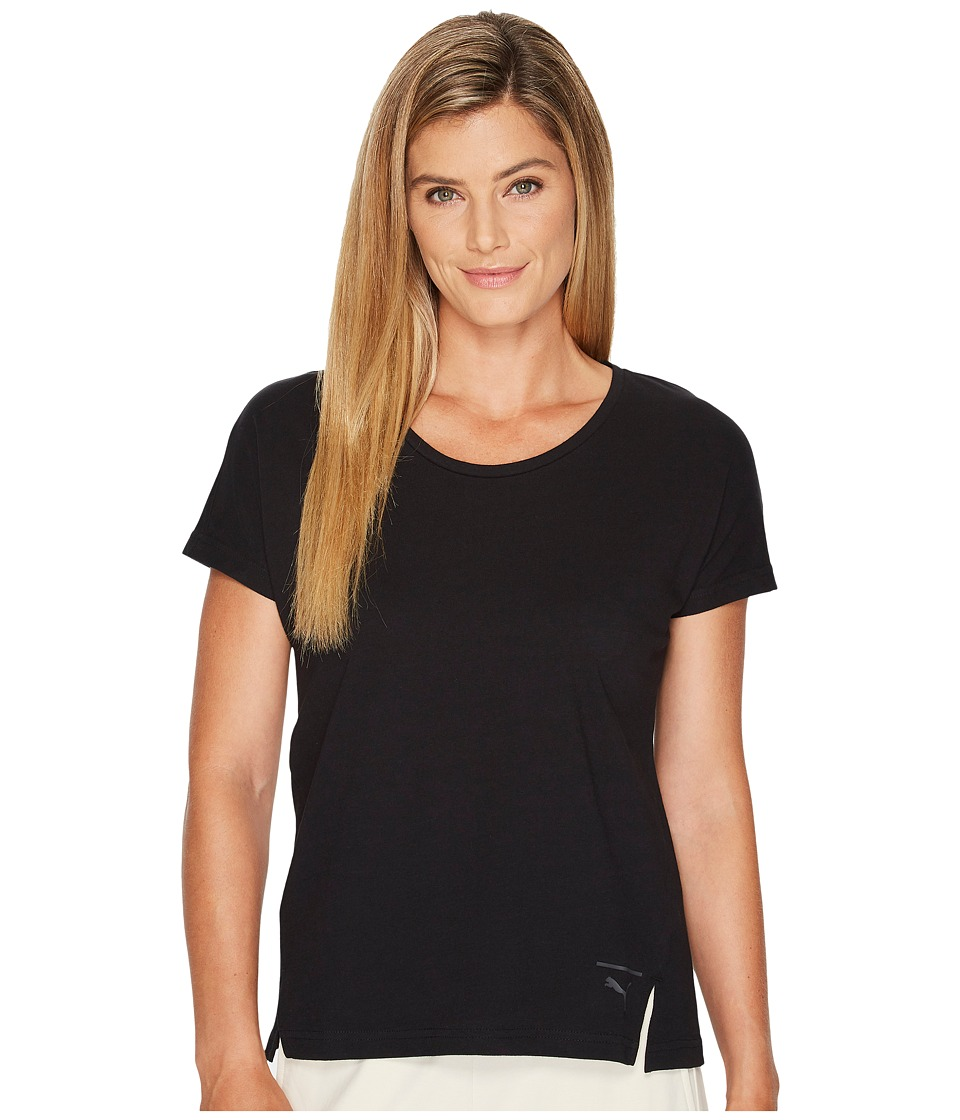 PUMA - Lux Fashion Tee (PUMA Black) Women's T Shirt