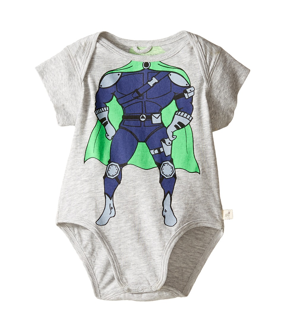 Stella McCartney Kids - Cassidy Superhero Body (Infant) (Grey) Boy's Jumpsuit & Rompers One Piece