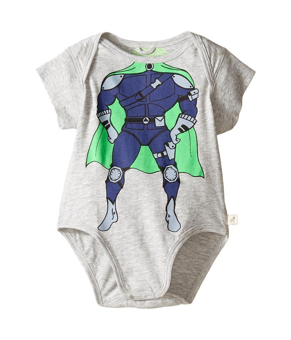 Stella McCartney Kids - Cassidy Superhero Body (Infant) (Grey) Boy's Jumpsuit & Rompers One Piece