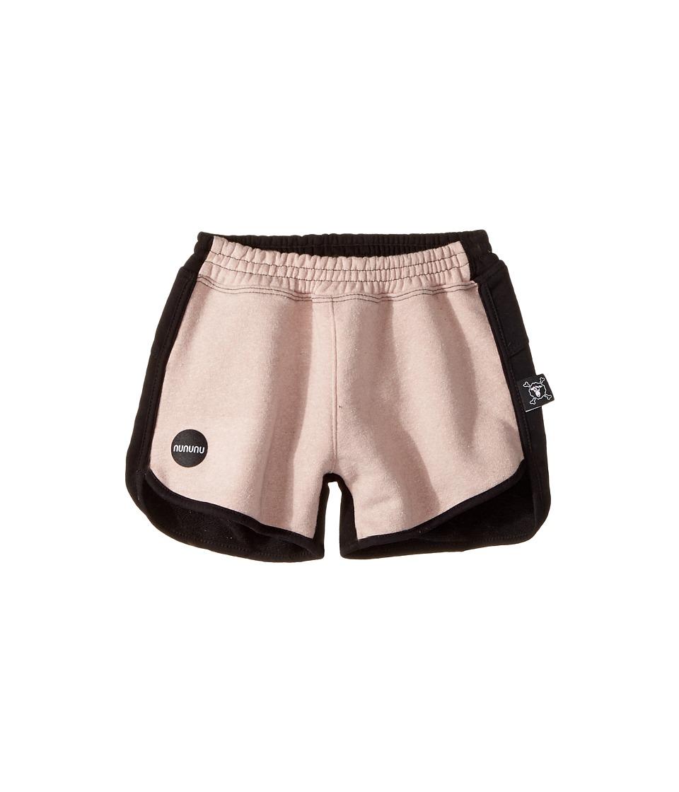 Nununu - 1/2 and 1/2 Gym Shorts (Little Kids/Big Kids) (Black/Pink) Girl's Shorts
